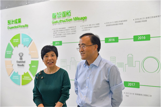 中国房地产业协会副会长兼秘书长陈宜明一行视察我校绿建三星建筑