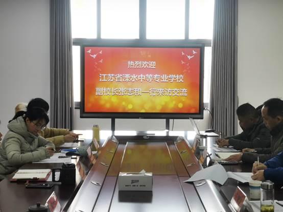 江苏省溧水中等专业学校师生来建工学院参观交流