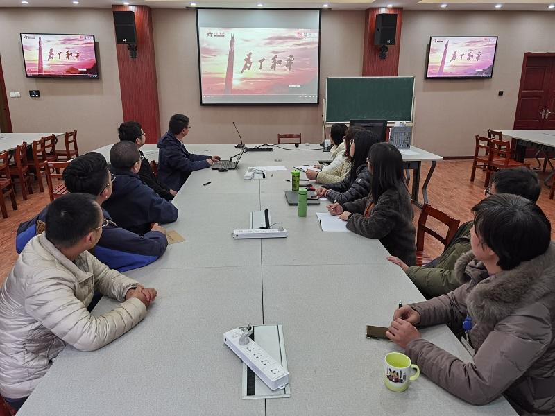 智造学院组织师生观看大型电视纪录片《为了和平》