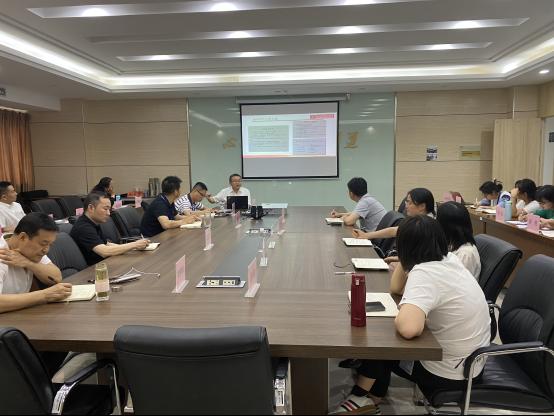 李雄威为检测学院全体党员上党史学习教育专题党课